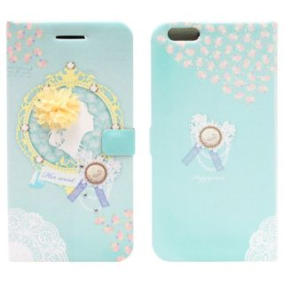 HAPPYMORI Mademoiselle Faux Leather Phone Case for Apple iPhone 6