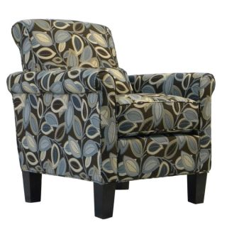 Portfolio Hyde Brown Modern Leaf Transitional Arm Chair   12403748
