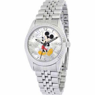 Disney Mickey Mouse Men's Watch, Silver Bracelet