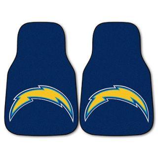 NFL   San Diego Chargers 2 pc Carpet Car Mat Set