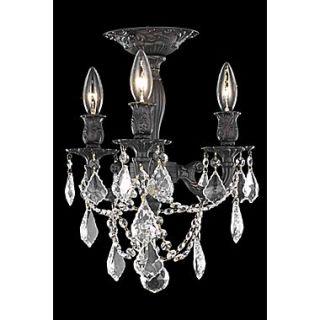 Elegant Lighting Rosalia 3 Light Chandelier; Crystal (Clear) / Royal Cut