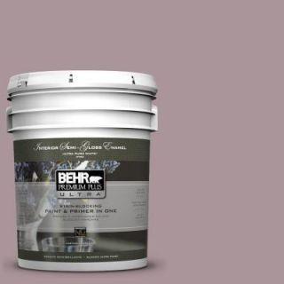 BEHR Premium Plus Ultra 5 gal. #ICC 64 Heirloom Quilt Semi Gloss Enamel Interior Paint 375405