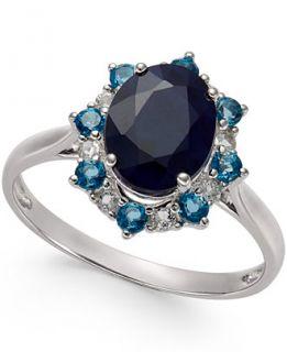 Multi Stone Starburst Ring in 10k White Gold (2 1/4 ct. t.w.)   Rings