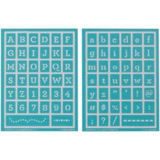 """Martha Stewart Adhesive Stencils 2 Sheets/Pkg Typewriter 5 3/4""""X7 3/4"""" 78 Designs"""