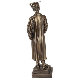 Cap and Gown, Young Male Graduate Statue by Design Toscano