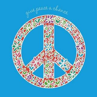Give Peace a Chance Poster Print by Erin Clark (12 x 12)