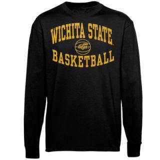 Wichita State Shockers Reversal Basketball Long Sleeve T Shirt   Black