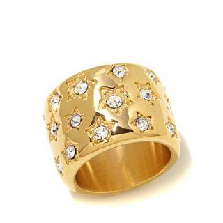 "Emma Skye Jewelry Designs ""Superstar Sparkle"" Stainless Steel Ring   8086708"