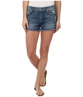 7 For All Mankind Cut Off Shorts in True Heritage Blue