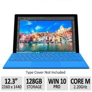 Microsoft Surface Pro 4 HD 12.3 Tablet   Intel Core M 6Y30, 4GB RAM, 128GB SSD, 2734 x 1824 HD Display, USB 3.0, Mini DisplayPort, 5MP/8MP Front & Rear Camera   SU3 00001