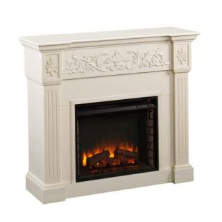 Southern Enterprises Calvert Ivory Electric Fireplace