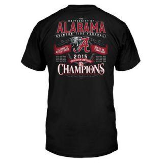 Alabama Crimson Tide 2015 SEC Conference Football Champions Score T Shirt   Black