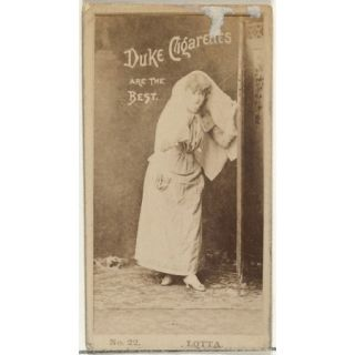Card Number 22 Lotta from the Actors and Actresses series (N145 6) issued by Duke Sons & Co. to promote Duke Cigarettes Poster Print (18 x 24)