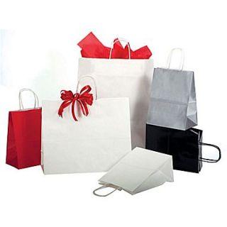 Shamrock Bonita Kraft Paper 8.37H x 5.5W x 3.25D Precious Metals on Natural Kraft Shopping Bags, Copper Penny, 250/Case