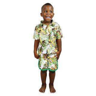 IndegoAfrica Toddler Boys Shorts   Hawaiian Green