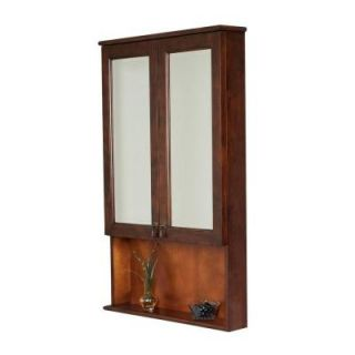 American Imaginations 28 in. W x 40 in. H Surface Mount Medicine Cabinet in Antique Cherry AI 12 232