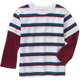 Garanimals Baby Toddler Boys Long Sleeve Stripe Hangdown Tee