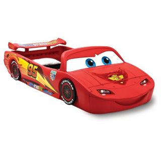 Disney®/Pixar Cars Toddler to Twin Bed with Lights and Toy Box