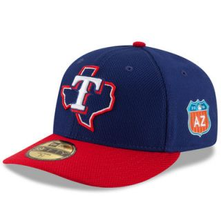 Texas Rangers New Era Spring Training Diamond Era Low Profile 59FIFTY Fitted Hat   Navy/Red
