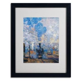 Trademark Fine Art 16 in. x 20 in. Saint Lazare Station Matted Black Framed Wall Art BL01406 B1620MF