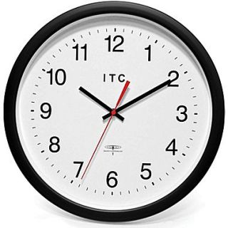 Infinity Instruments 90/RC14 1 Time Keeper Resin Analog Wall Clock, Black
