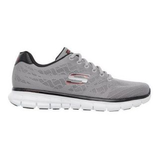 Mens Skechers Synergy Fine Tune Training Shoe Light Gray/Black