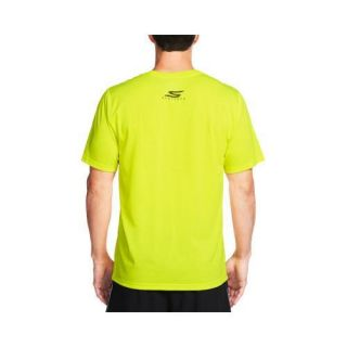 Mens Skechers High Velocity Make Your Mark Tee Shirt Neon/Yellow