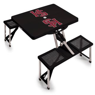 Picnic Time 811 00 175 094 1 Picnic Table in Black with HampdeninSydney College Tigers Digital Print
