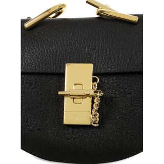 Chloe Drew Nano Leather Crossbody Bag   Black