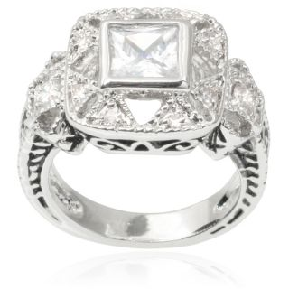 Journee Collection Brass Cubic Zirconia Engagement Ring   16386026