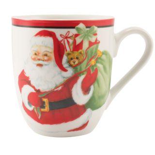 Fitz and Floyd Letters to Santa Holiday Coffee/Cake Mug