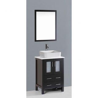 Bosconi Contemporary 24 Single Bathroom Vanity Set with Mirror