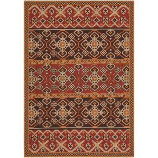 Safavieh Indoor/ Outdoor Veranda Red/ Chocolate Area Rug (4 x 57