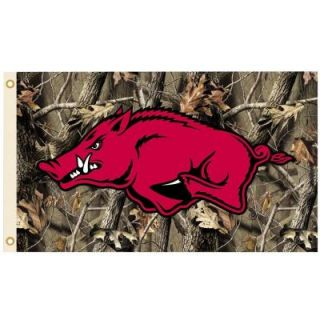 BSI Products NCAA 3 ft. x 5 ft. Realtree Camo Background Arkansas Flag 95642