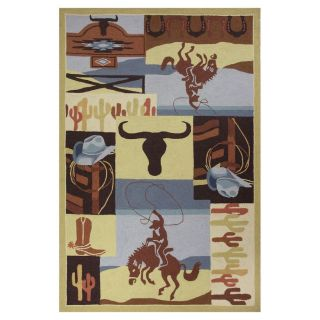 KAS Rugs Classy Casual Rectangular Indoor Hand Hooked Animals Throw Rug (Common: 3 x 4; Actual: 30 in W x 50 in L)