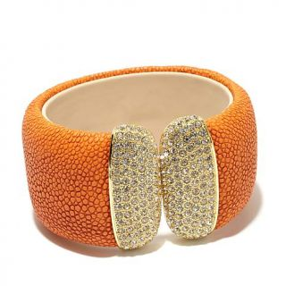 Real Collectibles by Adrienne® Exotic Stingray Embossed Cuff Bracelet with    7682966