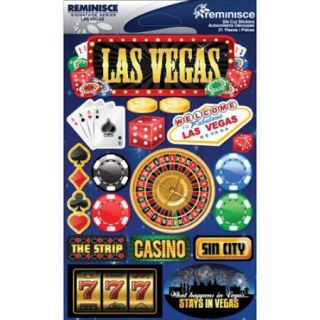 "Signature Dimensional Stickers 4.5""X6"" Sheet Las Vegas"