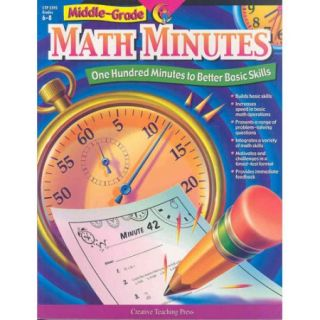 Middle Grade Math Minutes: One Hundred Minutes to Better Basic Skills
