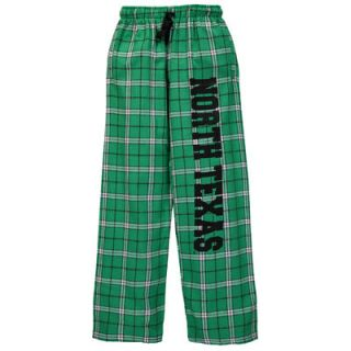 North Texas Mean Green Youth Plaid Flannel Pants   Kelly Green