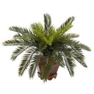 Nearly Natural Cycas Desk Top Plant in Planter