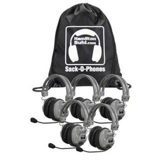 Hamilton Buhl Sack O Phones 5 HA7M Deluxe Headphones with Microphone SOP HA7M