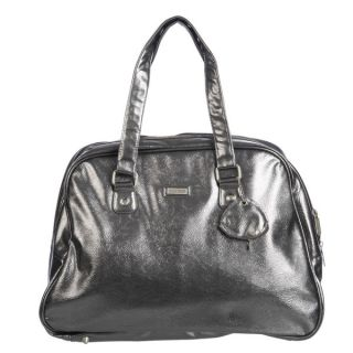 Ellen Tracy Gun Metallic Large Carry On Tote  ™ Shopping