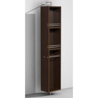 Wyndham Collection Amare Linen Tower & 360 Degree Rotating Floor Cabinet with Full Length Mirror in Espresso
