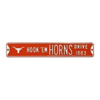 Authentic Street Signs SS 70093 Hook em Horns with Bevo Logo Street Sign