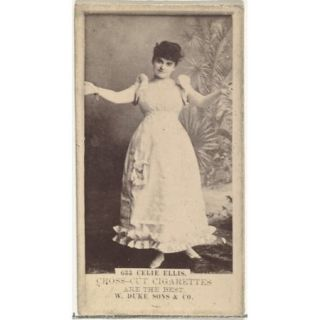 Card Number 633 Celia Ellis from the Actors and Actresses series (N145 3) issued by Duke Sons & Co. to promote Cross Cut Cigarettes Poster Print (18 x 24)