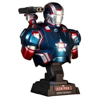 Iron Man 3 Iron Patriot Sideshow Collectibles 1:4 Scale Bust Figure Hot Toys