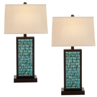 EC World Imports Urban Designs 31 H Table Lamp with Rectangular Shade