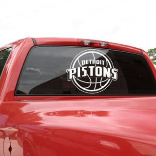 Detroit Pistons 18x18 White Logo Decal