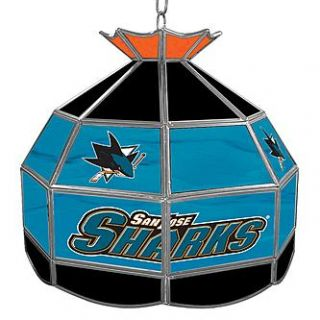 NHL San Jose Sharks 16 inch Stained Glass Tiffany Style Lamp   Home