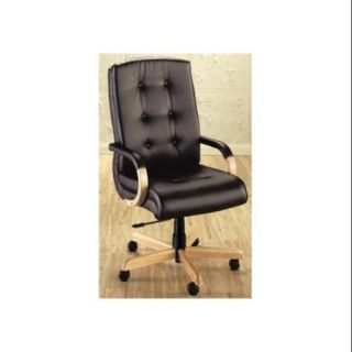 Executive Swivel Chair w Upholstered Accents (5506 Sand Dollar Fabric)